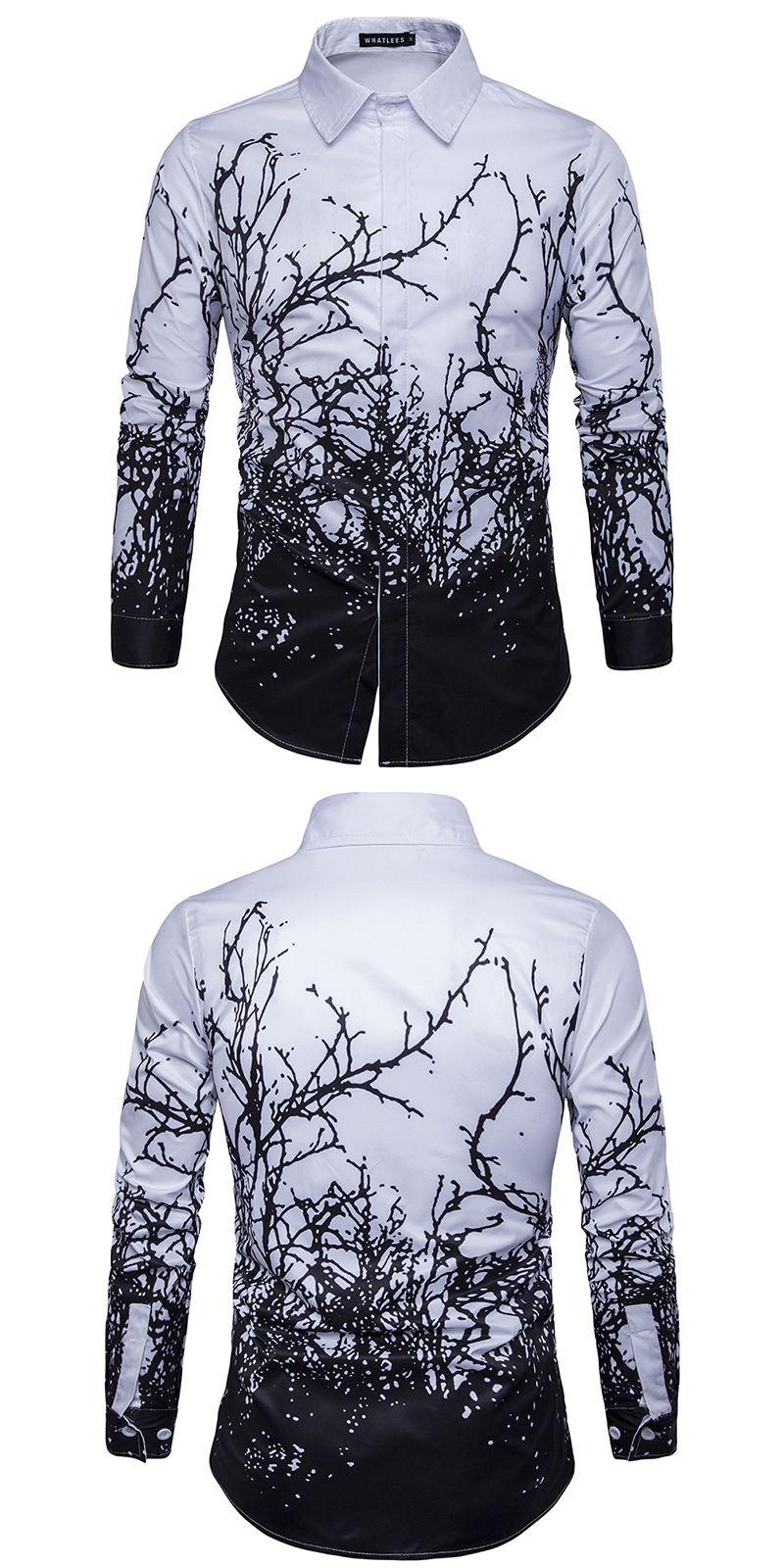 Long Sleeve Slim Men Dress Shirt Brand New Fashion Designer High