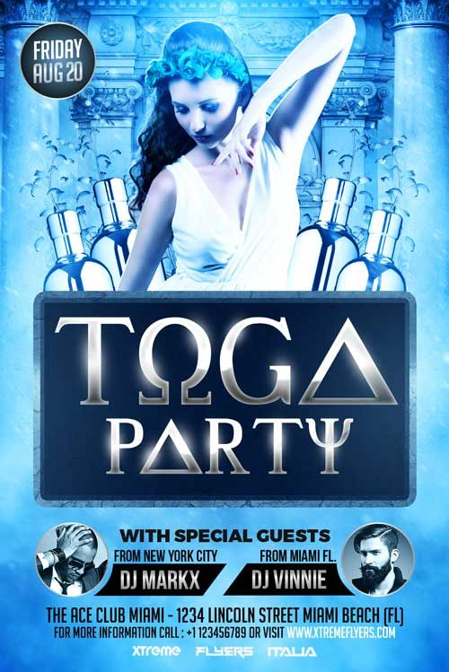 Toga Party Flyer Template Xtremeflyers Toga Party Party Flyer Flyer