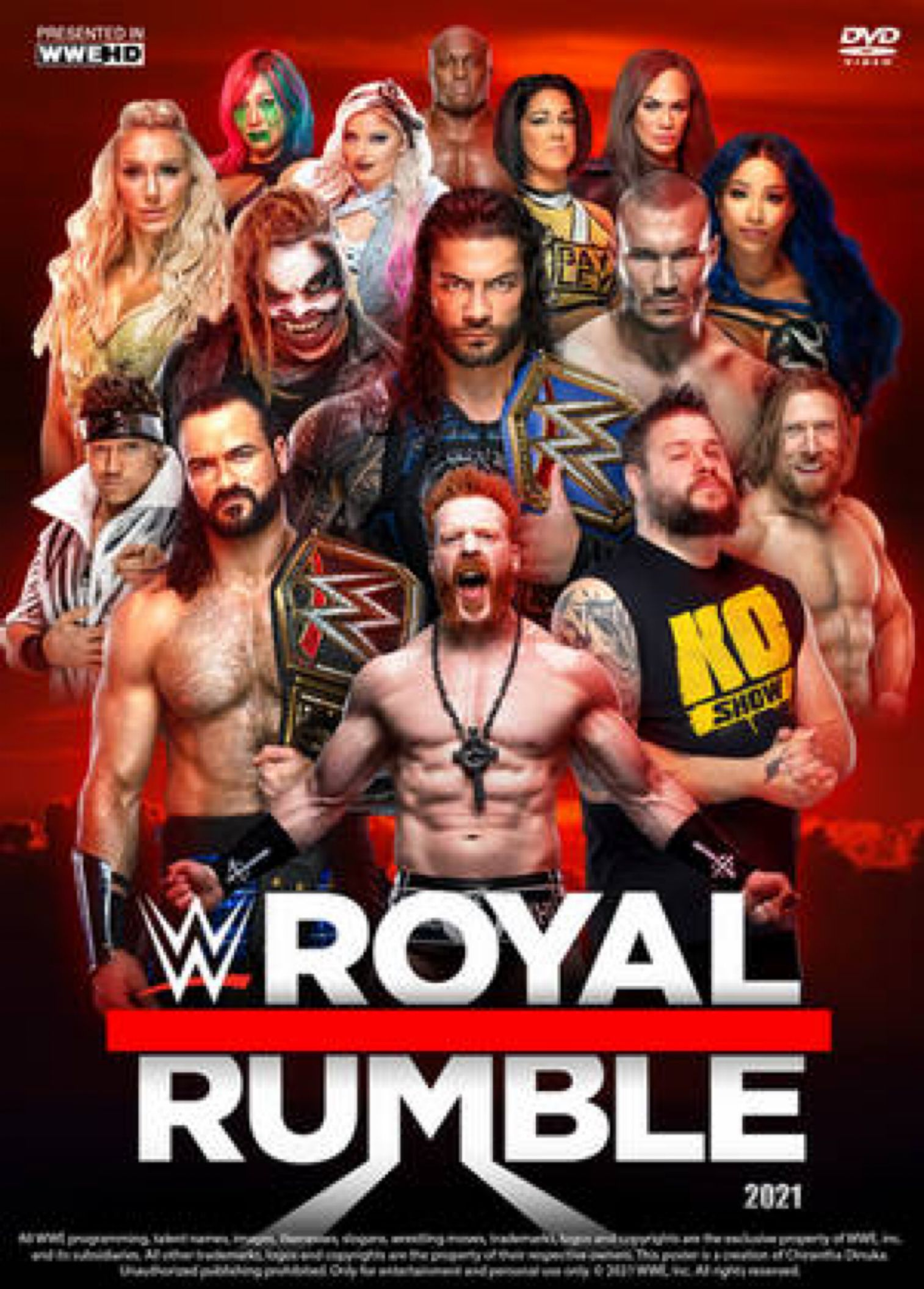 Wwe Royal Rumble 2021 Poster By Chirantha On Deviantart In 2021 Wwe Royal Rumble Royal Rumble Best Wwe Wrestlers