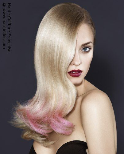 Tip In Pink Pink Tips Hair Colour Blonde Fashion Highlights Www