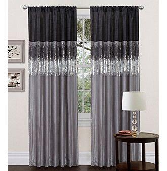 Curtains Ideas black window curtain : Lush Decor Night Sky Black and Grey Window Curtain at www ...