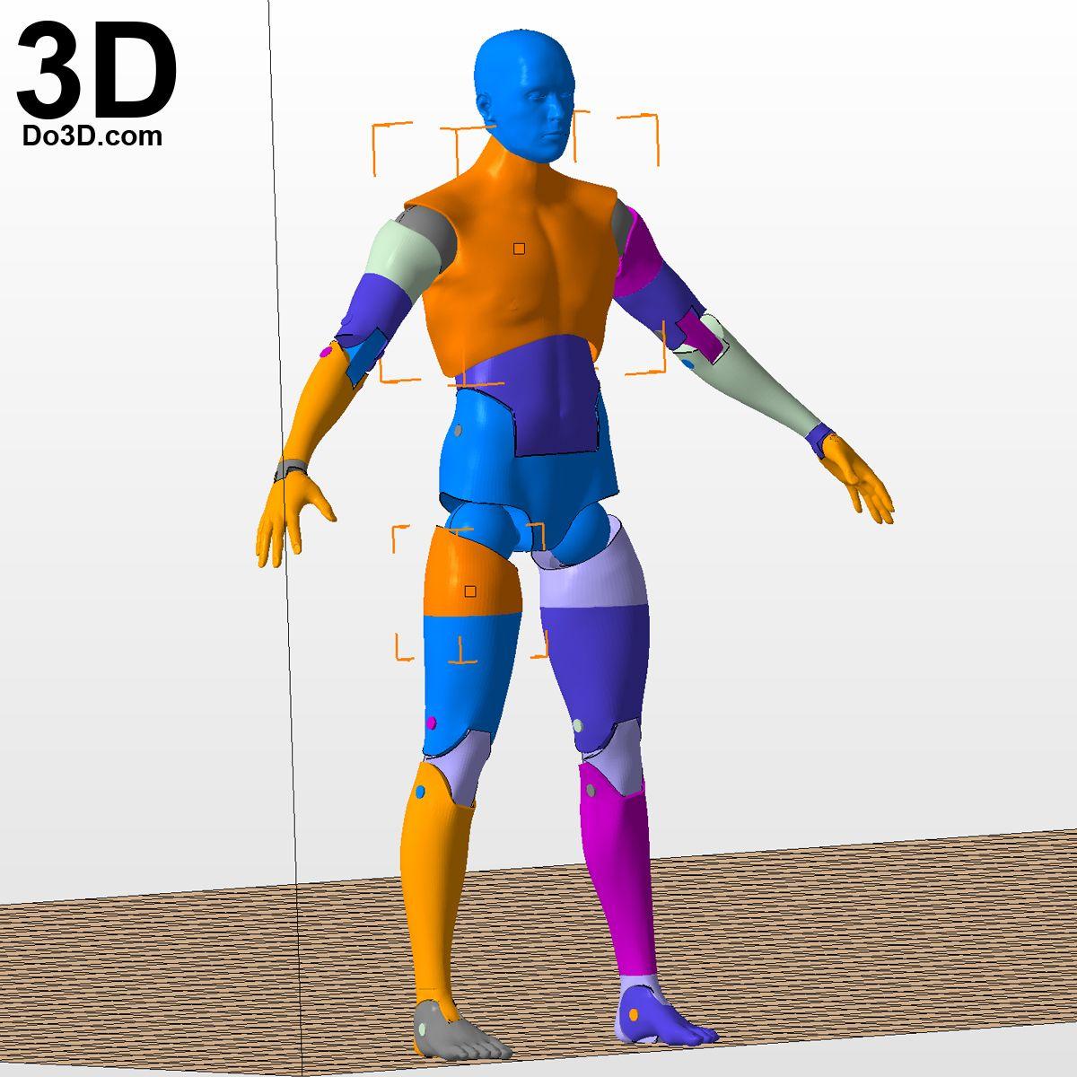 Custom 3D Printed Action Figure Head Modern Style