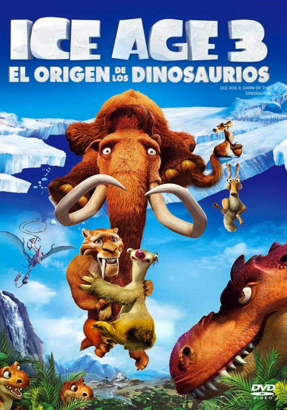2009 07 08 Ice Age 3 El Origen De Los Dinosaurios Dinosaur Dvd Dinosaur Movie Ice Age
