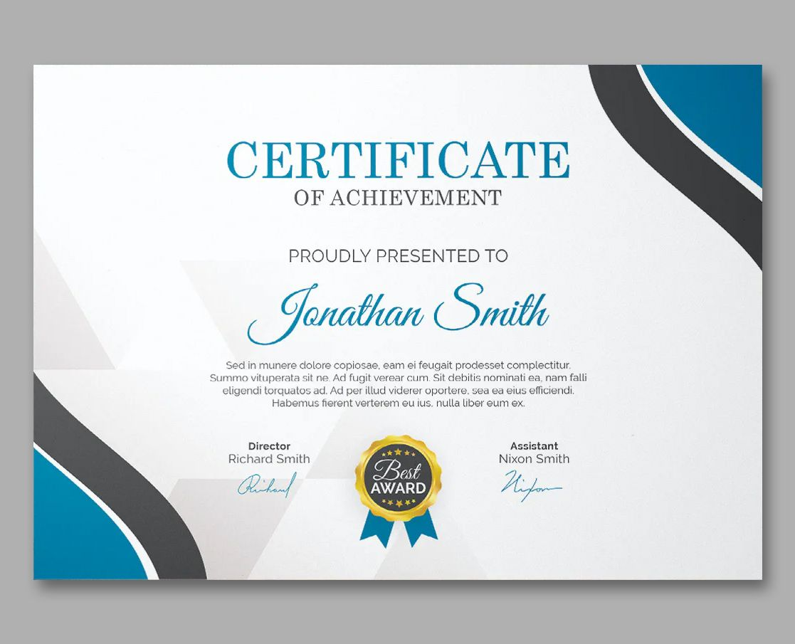 Certificate Design Template Psd Certificate Design Certificate Design Template Certificate Templates