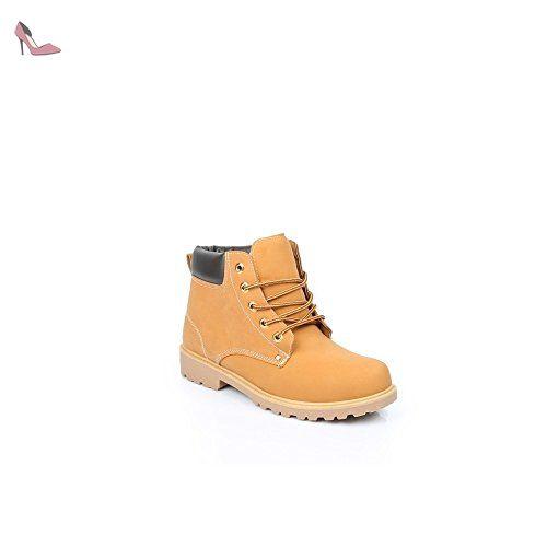Ideal Shoes - Baskets pour homme style Montagnard Batista Camel 43 -  Chaussures ideal shoes (