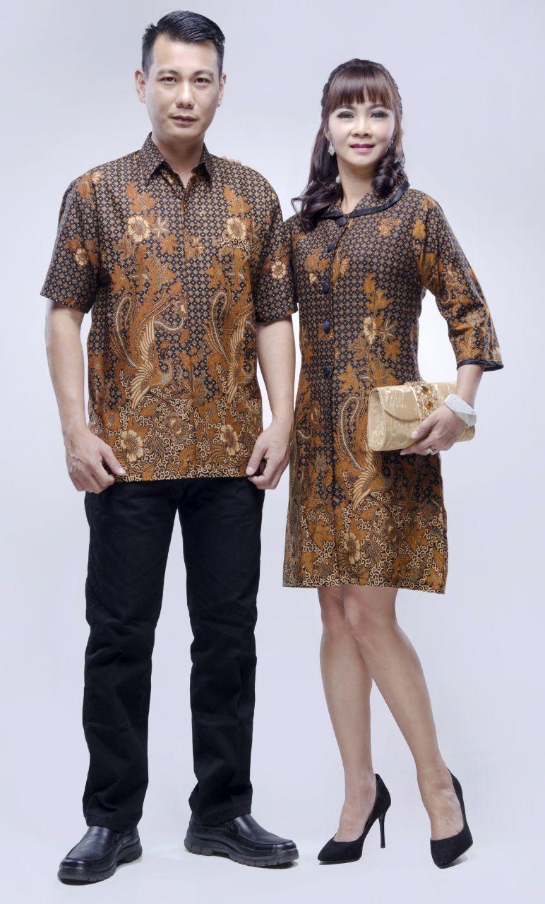 Baju Couple Batik Terbaru Seri Zara Daun Burung 11  Wanita