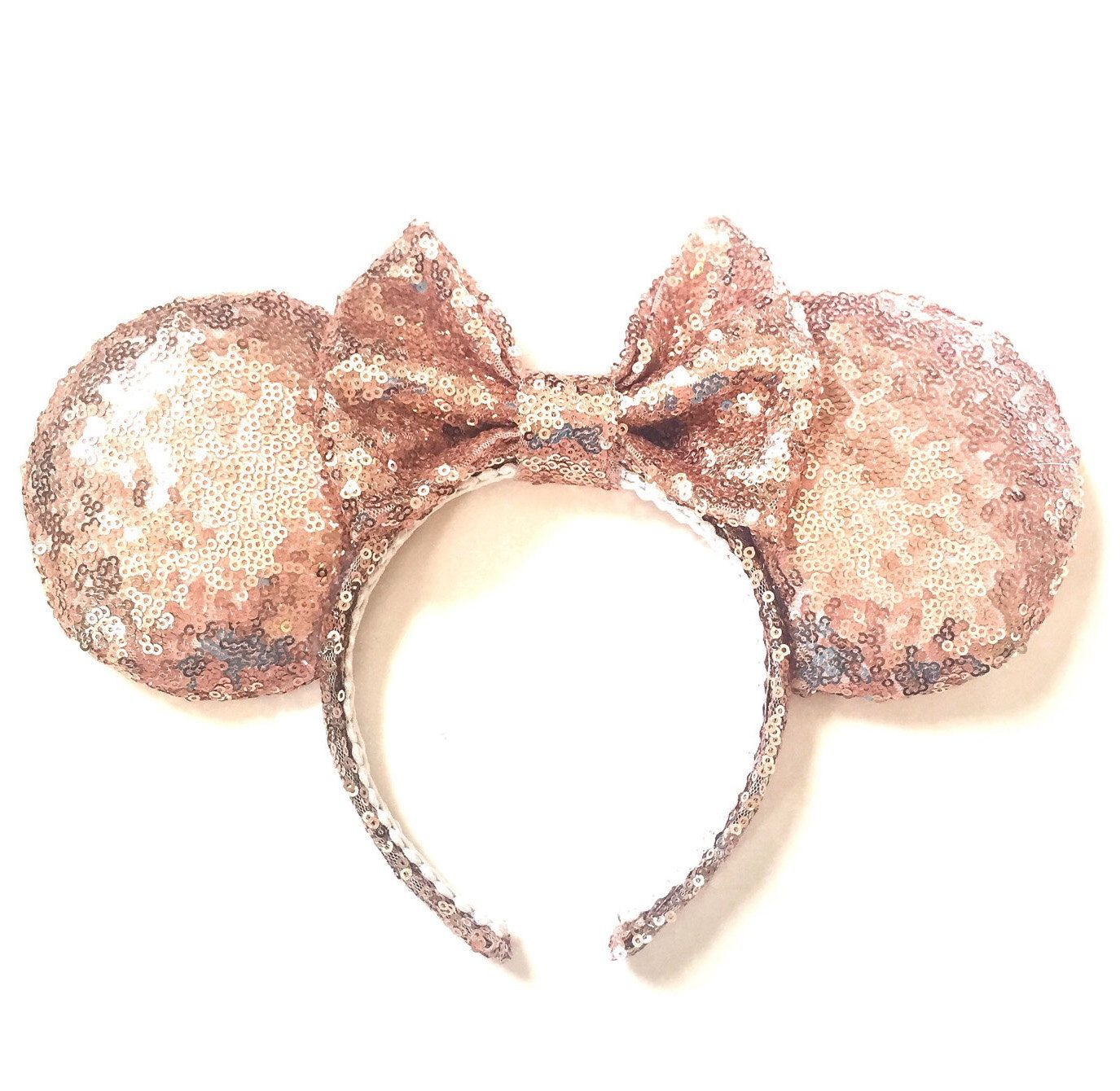 rose gold ears sequin ears minnie ears rose gold mouse ears sequin minnie ears minnie mouse. Black Bedroom Furniture Sets. Home Design Ideas