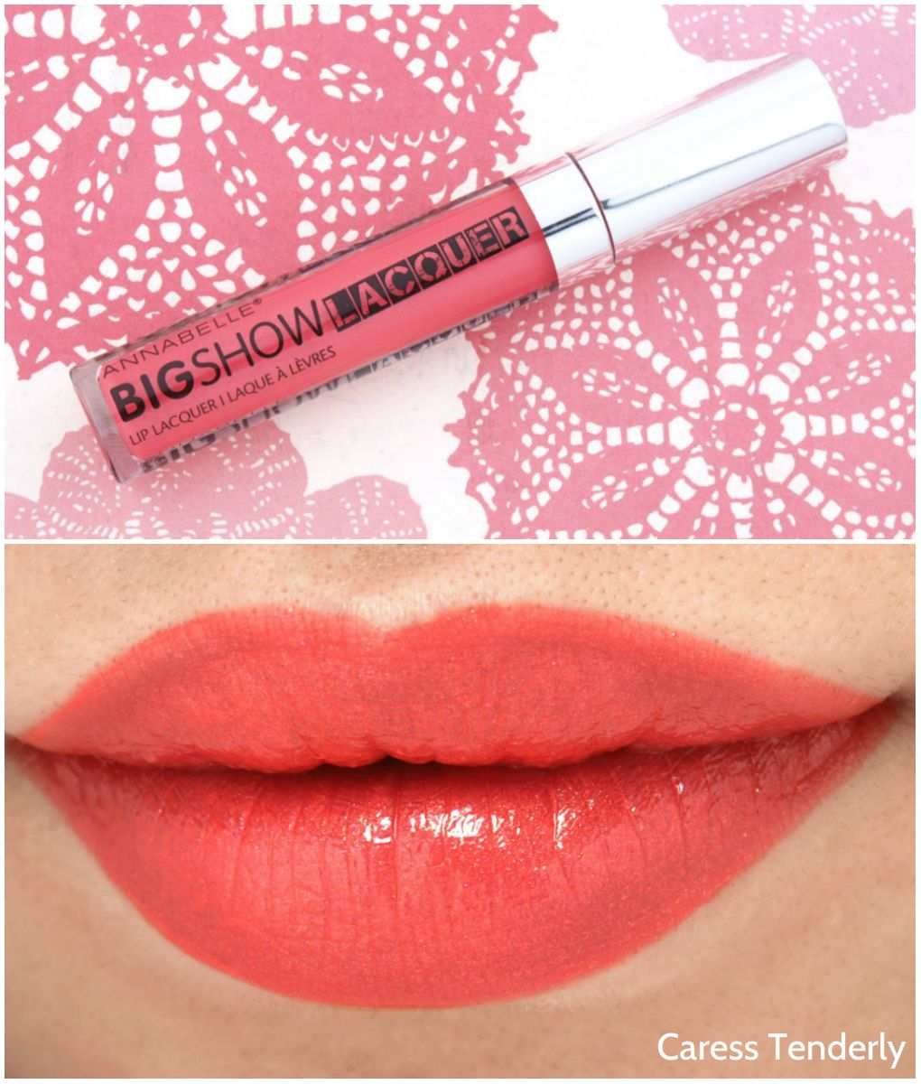 Annabelle BIGSHOW Lacquer Lip Lacquers Review and Swatches