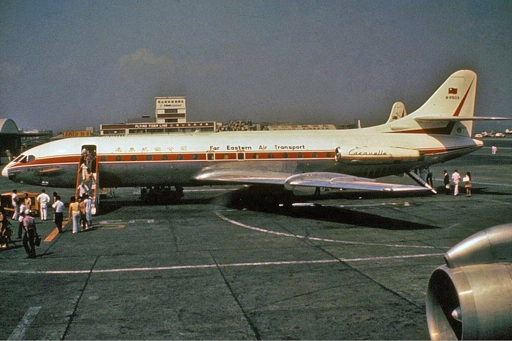 Far Eastern Air Transport Sud-Aviation SE-210-Caravelle B-2503 c/n 110 1972 Photo by Clinton Groves Scrapped at TPE date unknown