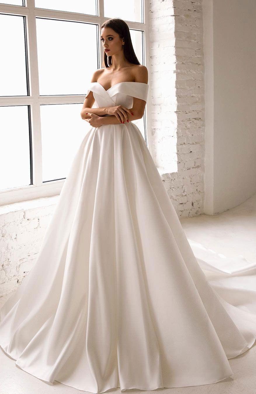 20 Off The Shoulder Wedding Dresses To Rock - #20 #dresses #Off