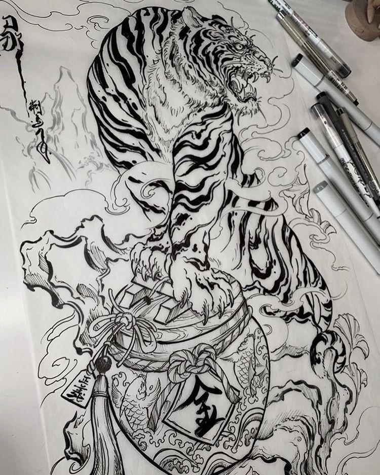 Japanese Inspiration Inkstinct Tiger Tattoo Design Japanese Tiger Tattoo Japanese Tattoo Designs