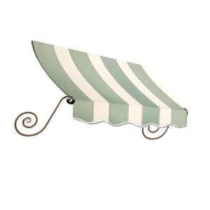 3 Ft Charleston Window Awning 31 In H X 12 In D In Sage Linen Cream Stripe Ch21 3slcr At The Home Depot Window Awnings Awnings For Sale Shop Awning