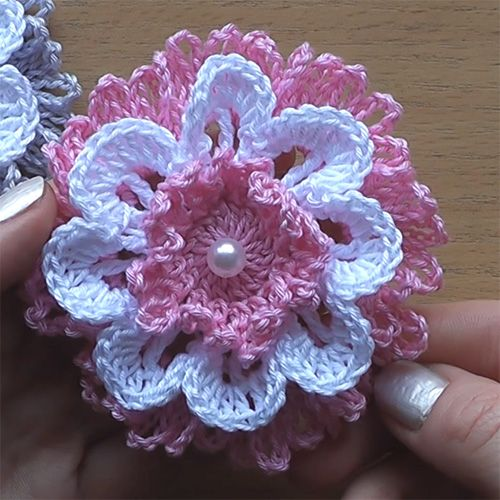 Beautiful Crochet Flower Very Easy Tutorial Crochet For Children