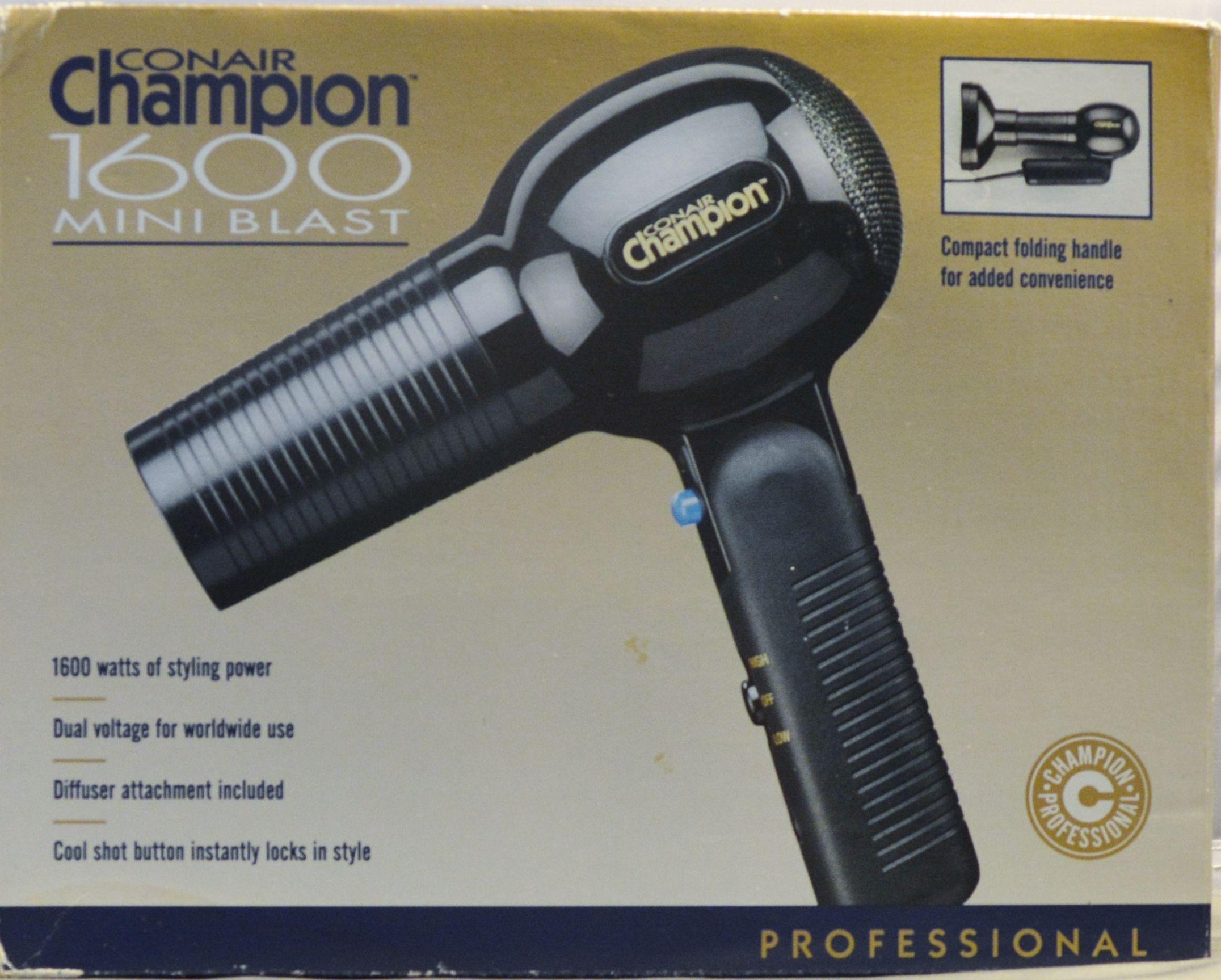 Conair Champion 1600 Mini Blast Professional Hair Dryer