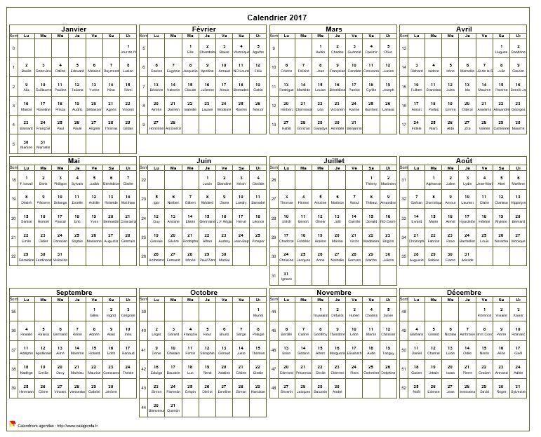Calendrier imprimer annuel avec les f tes nom des for Calendrier photo mural gratuit