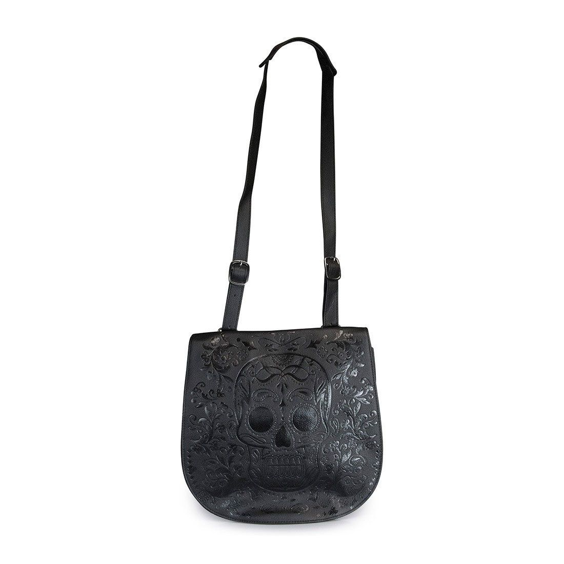 Loungefly Black Sugar Skull Crossbody Bag Purse And