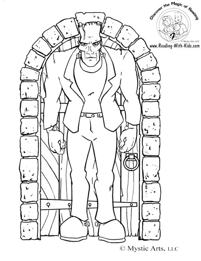Frankenstein Coloring Pages Awesome Httpwww.readingwithkidsimageshalloweenfrankenstein Review