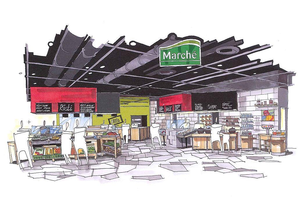 decoris-objektkunden-marché restaurant-flughafen zürich-decoris, Innenarchitektur ideen