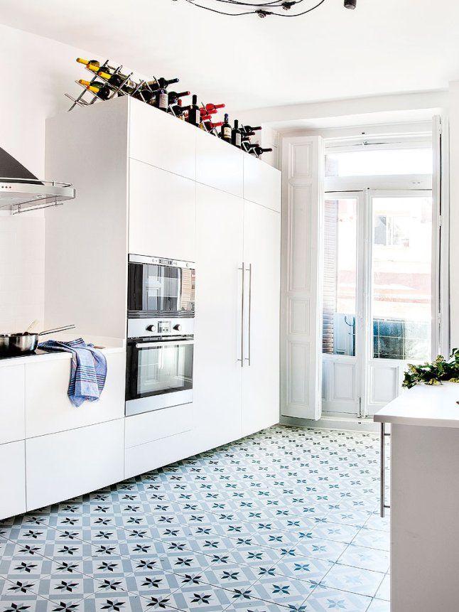 apartamento en madrid proyecto ateliers rh azulejo hidr ulico calvet gris 20x20 cm vives. Black Bedroom Furniture Sets. Home Design Ideas