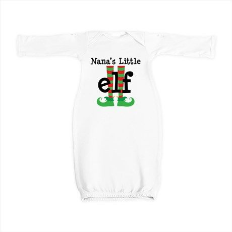 834316b0 Nana's Little Elf Baby Gown | Baby's 1st Holiday and Birthday Gifts ...