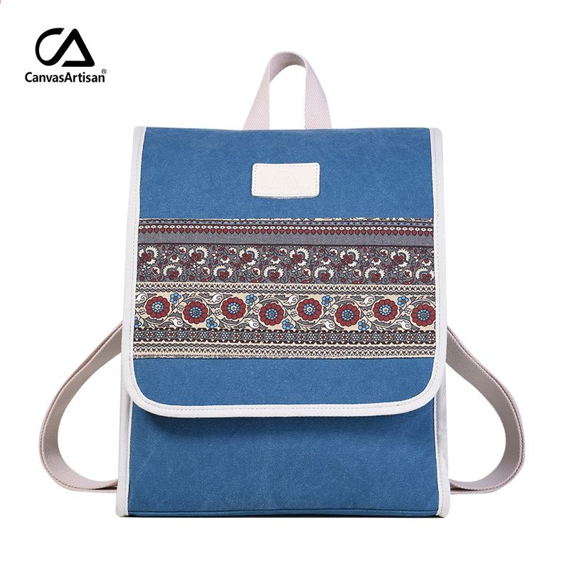 Canvasartisan New Women s Canvas Backpack Retro Style Floral School Bookbag  Laptop Backpacks Bags Female Casual College 0a47e0704dccf