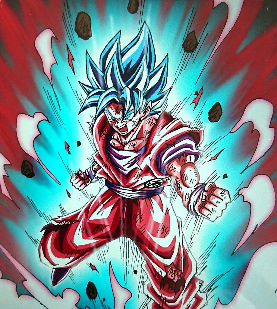 God Blue Kaioken Dragon Ball Art Dragon Ball Super Goku Dragon Ball Wallpapers
