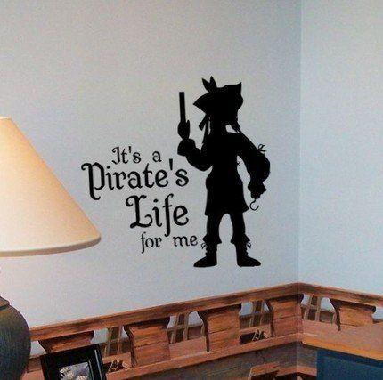 Amazon.com: Pirate Life - Yo Ho Yo Ho Vinyl Wall Decal Sticker Art Graphic: Home Improvement