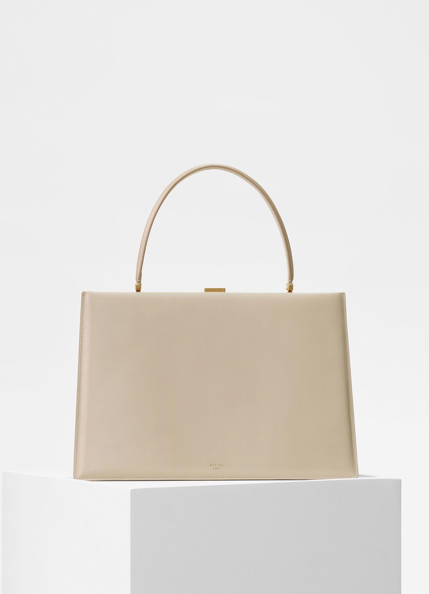 072f704ba0d9 Medium Clasp bag in box calfskin - Handbags