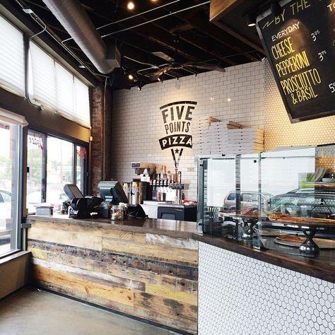 Pizza take away shop five points pizza for Interior design italiani