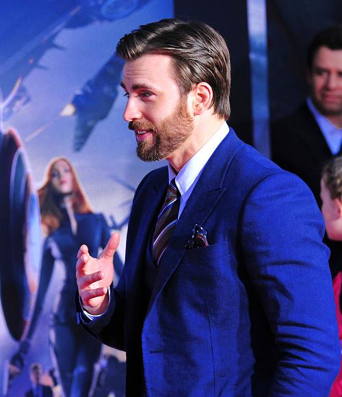 "Chris Evans at ""Captain America: The Winter Soldier"" Premiere"