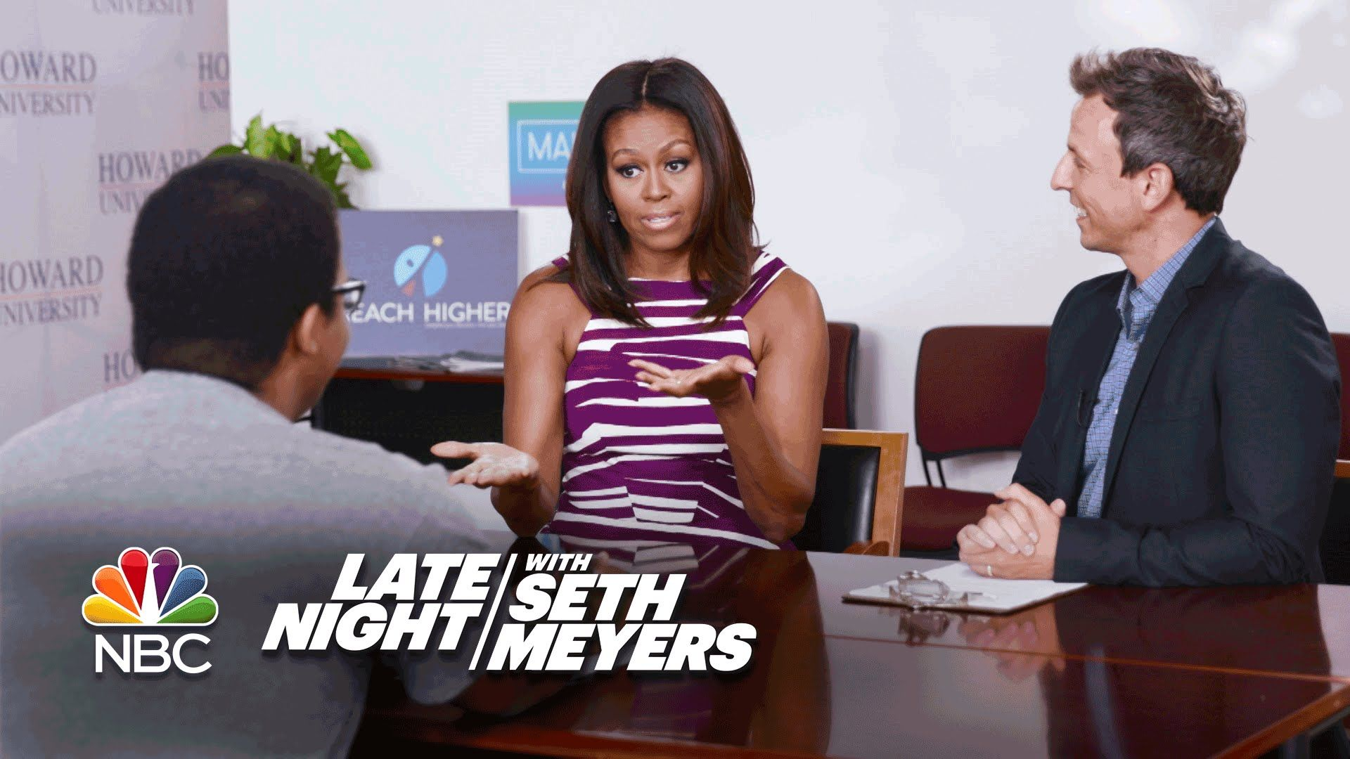 Seth And First Lady Michelle Obama Give College Freshmen Advice Michelle Obama College Freshman Advice Freshman College