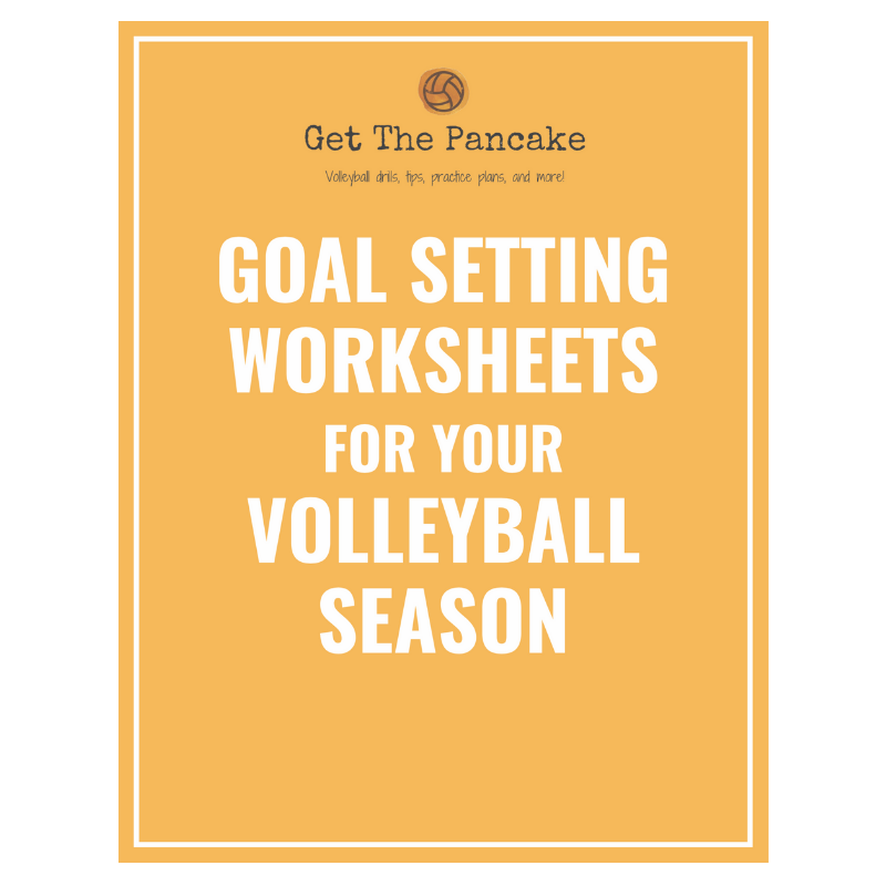 Volleyball Goal Setting Packet Coaching Volleyball Goal Setting Worksheet Sports Goal