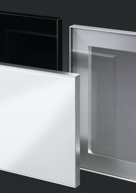 Modern Aluminum Frame With Glass Cabinet Doors Door Glass Design Kitchen Glass Doors Glass Cabinet Doors
