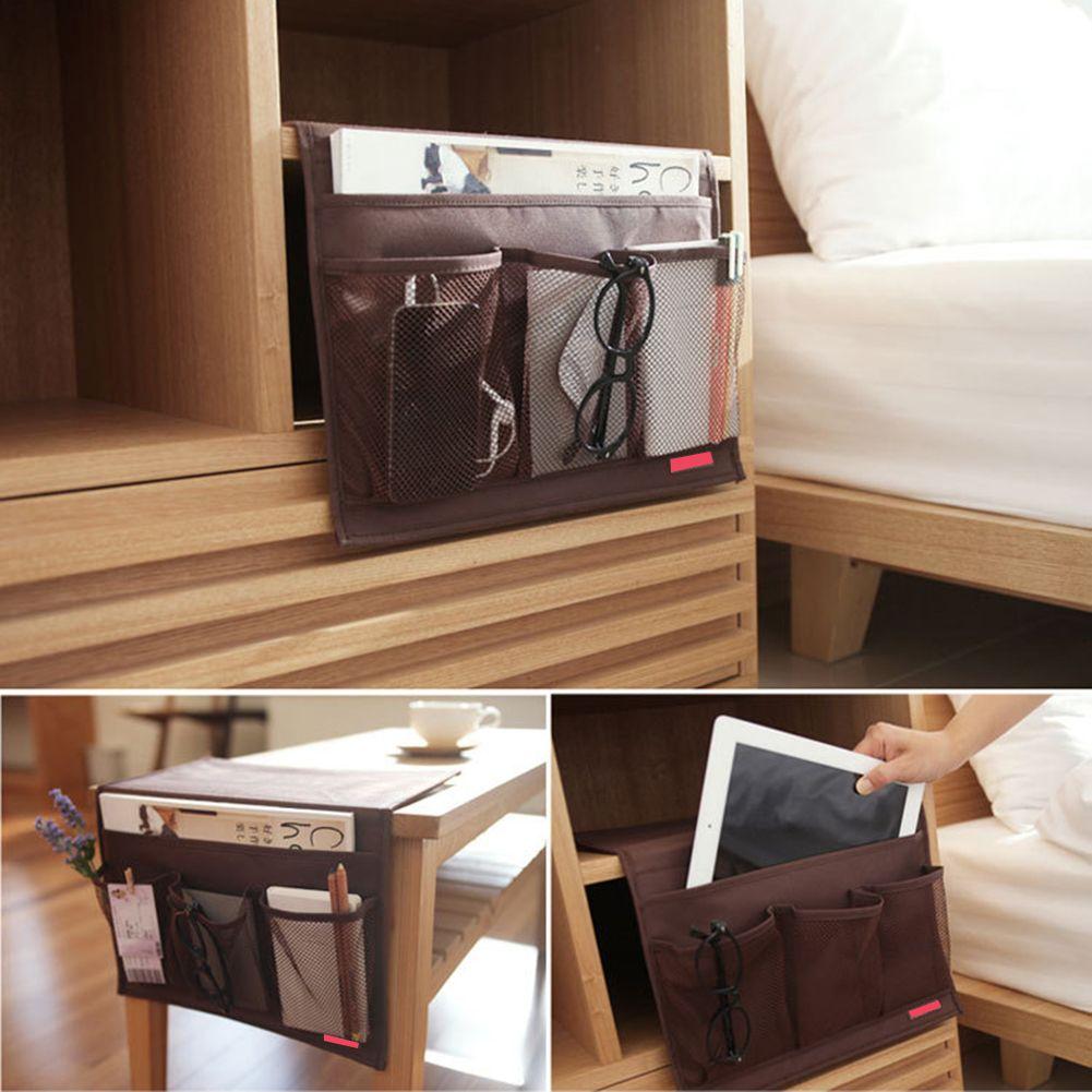 New design washable storage bags desk cabinet sofa bed side hanging
