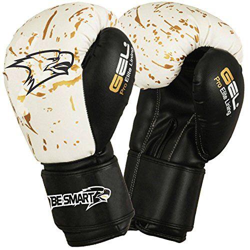 Besmart Boxing Gloves Bag Mens Gym Kick Pads Mma Mitts Muay Thai Training Punch Golden Spots 10 Oz Besmart Boxing Gloves Muay Thai Training Training Gloves