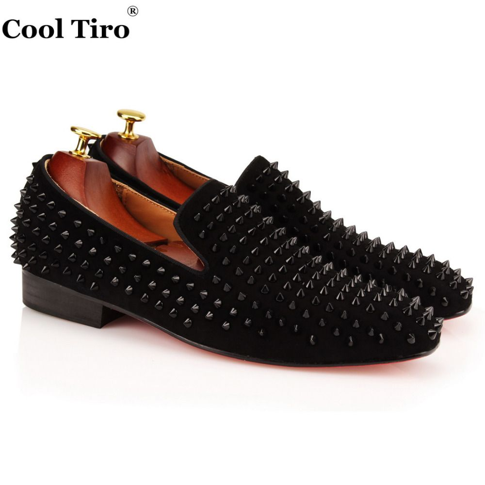 38 Off Cool Tiro Men Loafers Top Quality Red Bottom Shoes Fashion Black Suede Spikes Men Loafers Riv Casual Dress Shoes Flat Dress Shoes Red Bottom Shoes [ 1000 x 1000 Pixel ]