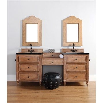 """James Martin 74"""" Copper Cove Double 26"""" Vanities with Drawer Bridge - Driftwood Patina images"""