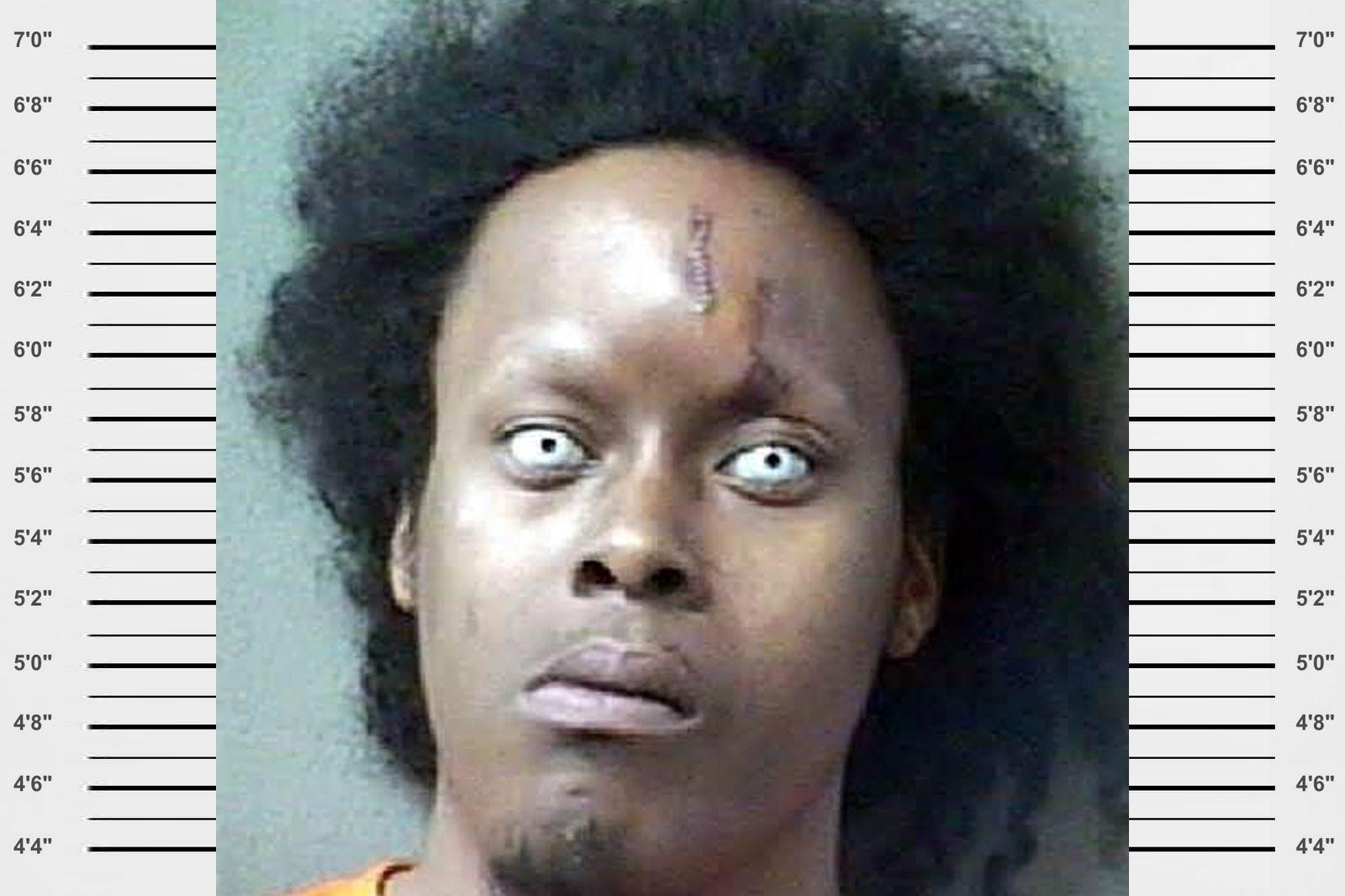 Black celebrity mugshot