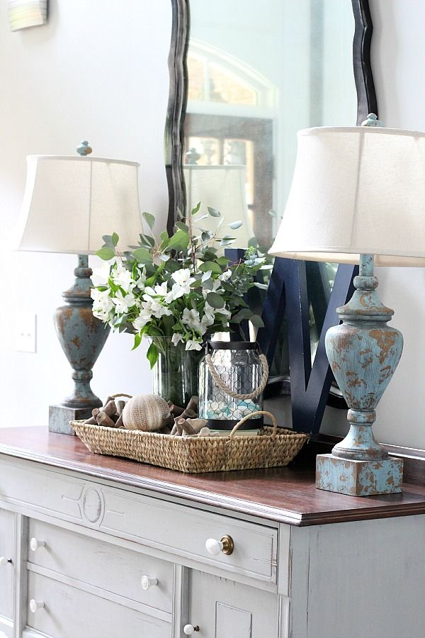 Decorating With Trays Buffet Table Decor Home Decor Entry