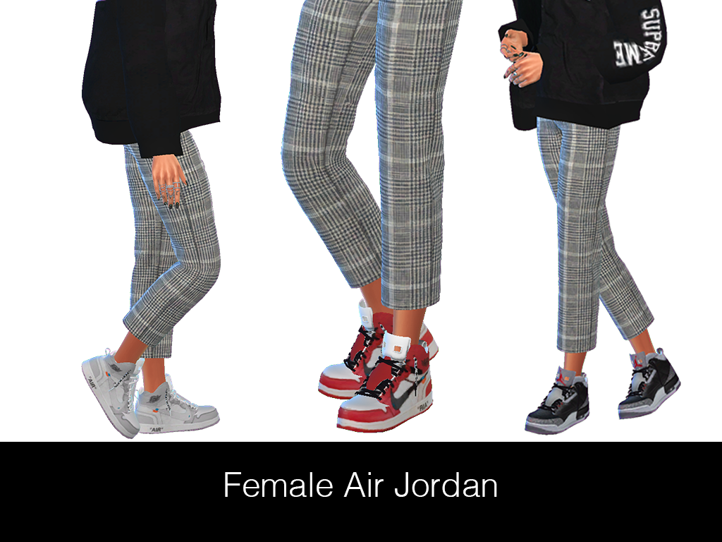cheap for discount 8426b 53d82 HypeSim – Female Jordan (3 Swatches) I converted @ebonixsims ...