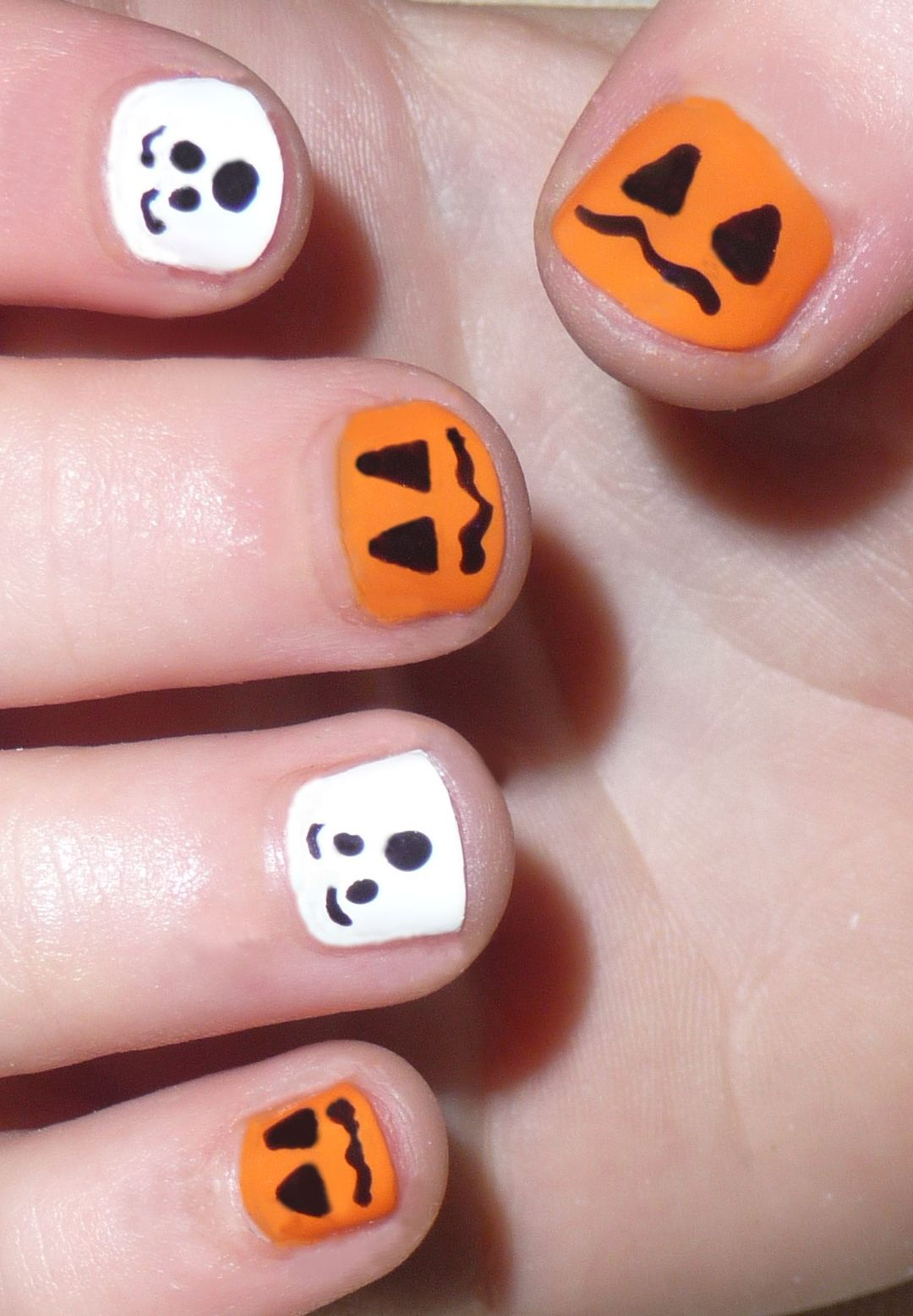 This Would Be Cute For Emma Halloween Nails Easy Nails For Kids Kids Nail Designs