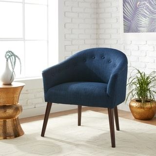 Terrific Camilla Mid Century Navy Blue Accent Chair Living Room Andrewgaddart Wooden Chair Designs For Living Room Andrewgaddartcom
