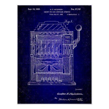 Blueprint Slot Machine, Vintage Patent Art Poster - fresh blueprint education books