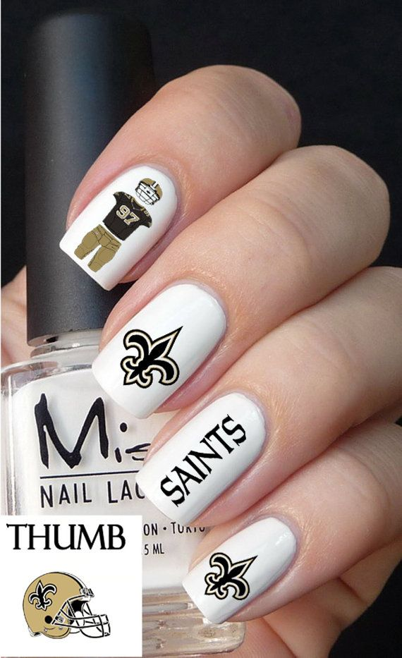 New Orleans Saints Nail Decals | I <3 Saints, N\'awlins | Pinterest ...