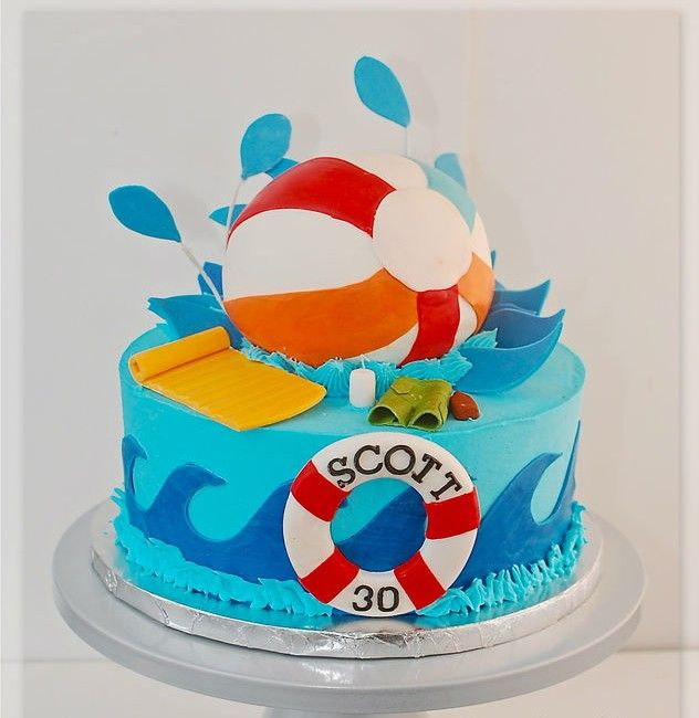 Cool Beach Ball Birthday Cake Birthdays Cakes Ideas Halfsteppin Birthday Cards Printable Benkemecafe Filternl