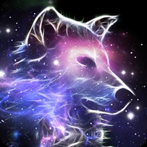 Galaxy Wolf Wolf Spirit Animal Beautiful Wolves Cute Animal Drawings
