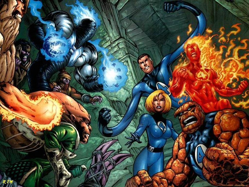 Fantastic Four Fan Art Fantastic Four Cartoon Wallpaper Marvel Heroes