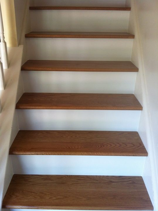 Baseent Stairs Pictures | Fairly Easy With White Stringers Any Slight Gaps  Can Be Caulked And