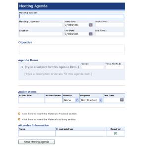 Meeting Agenda Maker Ms InfoPath Template | Office Templates ...