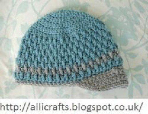 Free Crochet Baby Hat Pattern Boy Hat Pinterest Crochet Baby